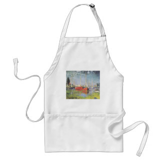 Red Boats at Argenteuil Adult Apron