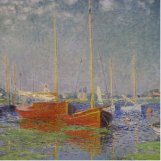 Red Boats at Argenteuil by Claude Monet Photo Cutout