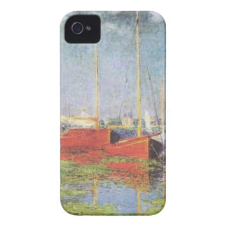 Red Boats at Argenteuil iPhone 4, 4S Case