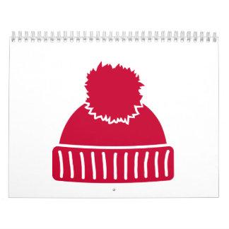 Red bobble hat calendar