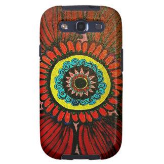 Red Boho Flower samsung galaxy Galaxy S3 Covers