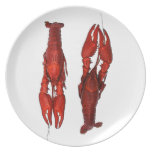 red boiled crawfish plate