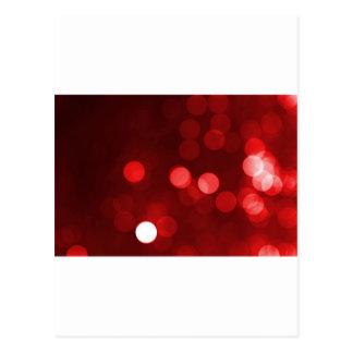 Red Bokeh Postcard
