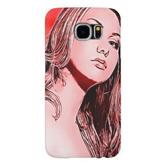 Red BOLO Glamour Girl Airbrush Art Case Samsung Galaxy S6 Cases