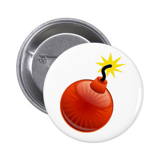 Red Bomb Button: Exploding Graphic Blowing Up Button
