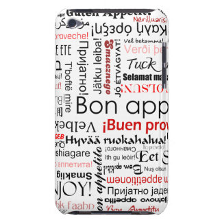 Red Bon appetit in many different languages Barely There iPod Case
