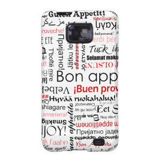 Red Bon appetit in many different languages Samsung Galaxy SII Cover