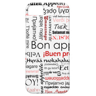 Red Bon appetit in many different languages iPhone SE/5/5s Case