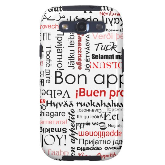 Red Bon appetit in many different languages Samsung Galaxy SIII Cover