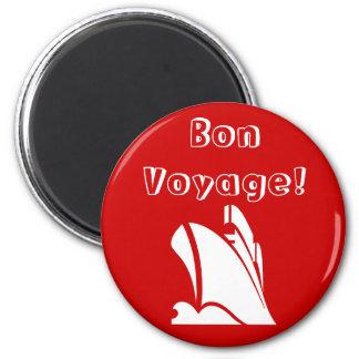 Red Bon Voyage Magnet