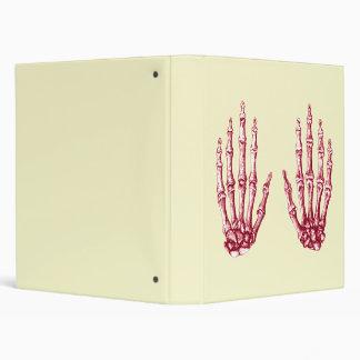 Red bones of the hand binder