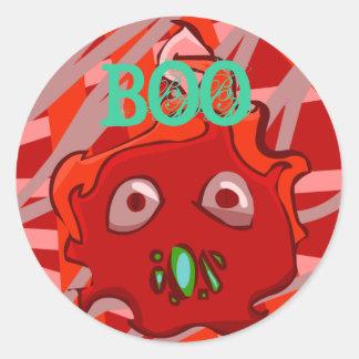 Red BOO Sticker