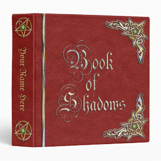 Red Book of Shadows 3 Ring Binder