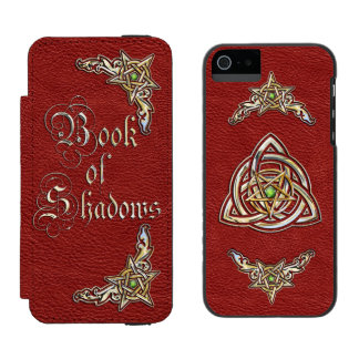 Red Book of Shadows iPhone SE/5/5s Wallet Case