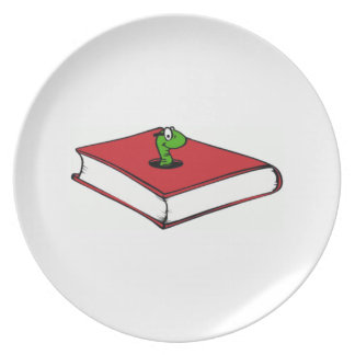 Red Book Worm Dinner Plate