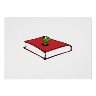 Red Book Worm Poster