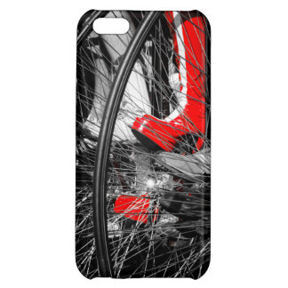 Red Boot in Penny Farthing Stack Cover For iPhone 5C