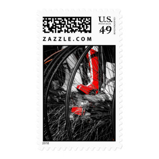 Red Boot in Penny Farthing Stack Postage