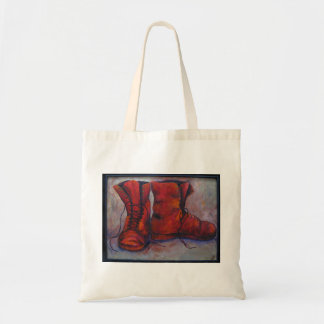 Red Boots Budget Tote Bag