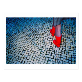 Red boots postcard