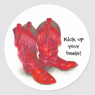 Red Boots Stickers