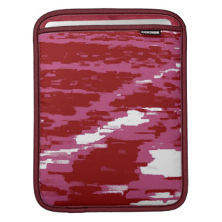 Red, Bordeaux White Abstract Art Retro iPad sleeve
