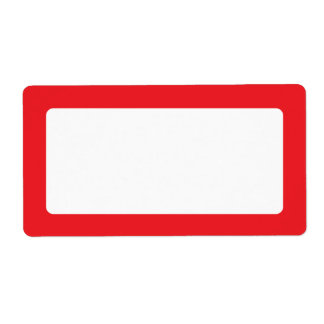 Red border blank label
