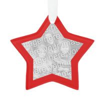 Red Border Christmas Photo Ornament