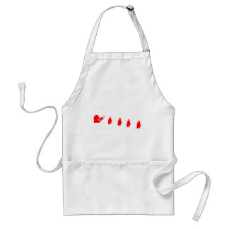 Red Border Collie Doing Flyball Adult Apron