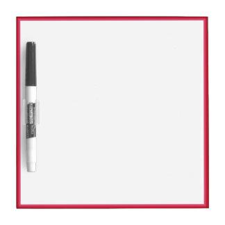 Red Border Dry Erase Board