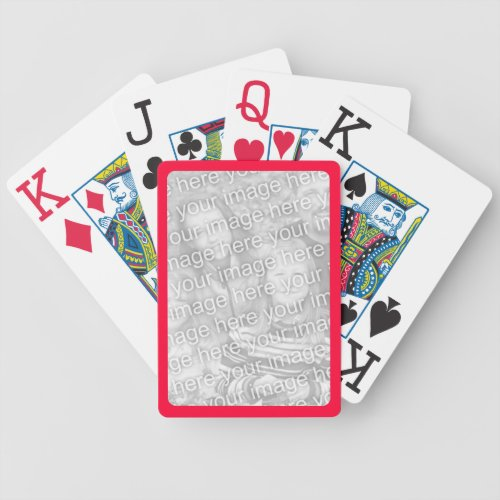 Red Border for Photo Bicycle Playing Cards