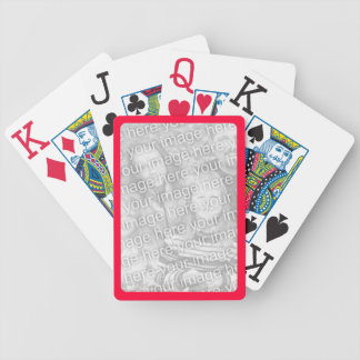 Red Border for Photo Bicycle® Playing Cards Bicycle Playing Cards