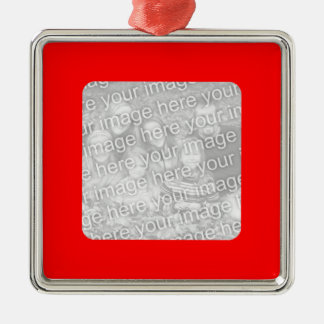 Red Border Photo Ornament