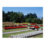 Red Botanical gardens of Villa Tranto on Lake Magg Post Card