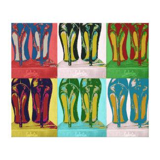 Red Bottom Heels Pop Art Canvas Print