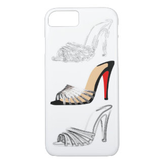 Red bottoms sandals shoes heels with iPhone 7 case