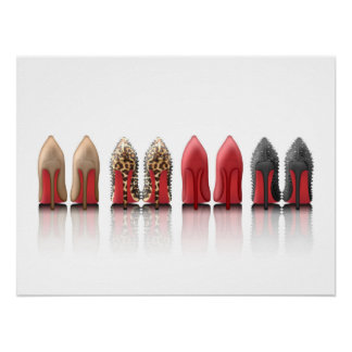 Red Bottoms Stilettos shoes heels collection Poster
