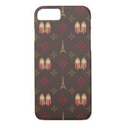 Red bottoms stilettos shoes heels lv monogram iPhone 8/7 case