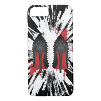 red bottoms stilettos with CRAZY background iPhone 7 Case