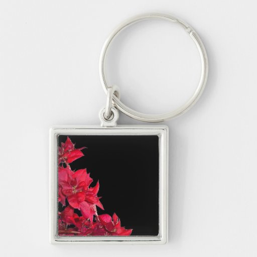 Red Bougainvillea on Black Key Chains