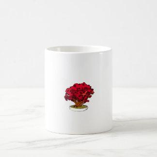 Red bougie type clump bonsai graphic mugs