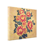 red bouquet canvas gallery wrapped canvas