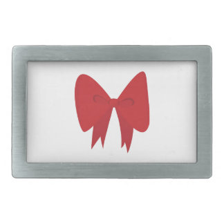 Red Bow Belt Buckle