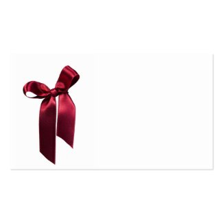 red bow business card