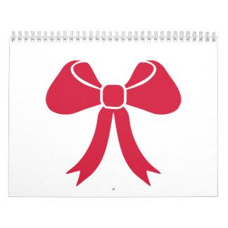 Red bow calendar