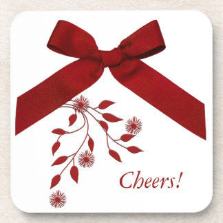 Red Bow Cheeriness Coaster