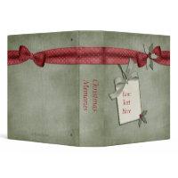 Red Bow Christmas Binder binder