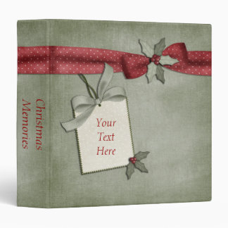 Red Bow Christmas Binder