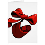 Red bow Christmas card