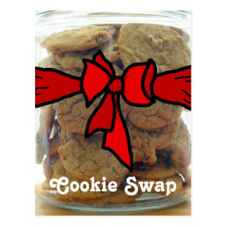 Red Bow Cookie Swap Party Invitations